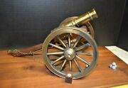 Vintage Civil War Replica Display Cannon 1970and039s Made By Machine Vocational Class