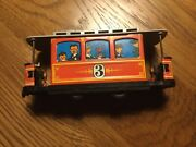 Vintage Tram Trolley Streetcar Tinplate Friction Toy
