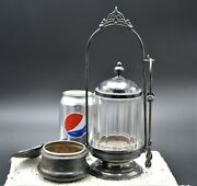Antique Pickle Castor And Lidded Sugar Dish By Rockford Silver Plate Co. C1882-95