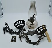 4 Piece Victorian Eastlake Wall Lamp And 2 Arm Hangers Combo Plume And Atwood 1883
