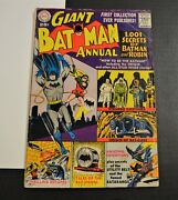 2 Silver Agers Batman 1 Giant Annual 1961 Dc Orig Bat Cave And Dc Special 1 1968