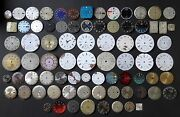 Lot Of Vintage Swiss And Japanese Dials For Handcraft Art. 78 Pieces