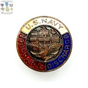 Wwi Us Navy Honorable Discharge Lapel Button Pin Navy Ww1 Bin 2