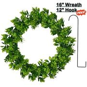 Simply Household Artificial Green Wreath Front Door Wall Window 16andrdquo Faux