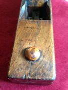 Rare Button Nose Antique Master Carpenters 17 Inch Wooden Woodworking Plane