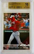 2018 Topps Now Shohei Ohtani Rc /japanese Lmtd. Pr/1750 Bgs 10 And .5 From Bl