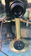 Antique American Bell Candlestick Telephone Untested