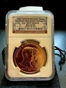 2000-dated Bronze 38mm Ronald And Nancy Reagan U.s. Mint Medal. Ngc Ms68rd. Rare