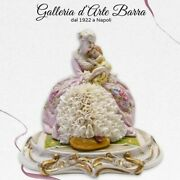 Porcelain Of Capodimonte. Maternity With Little Girl Dress Lace Of Porcelain