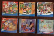 6 Fisher Price Little People Cds Christmas, Halloween, Bath Time, More