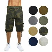 Menand039s Distressed Vintage Cotton Cargo Shorts
