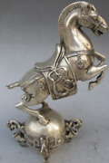 Collectibles Chinese Silver Copper Statue - Horse Seismograph Statues