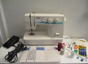 Vintage Brother Ls-1217 Convertible Free Arm Portable Sewing Machine In Box