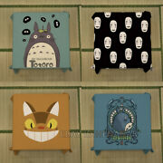 Totoro Tablecloth Cotton Linen Coffee Table Cover No Face Man Cat Bus Waterproof