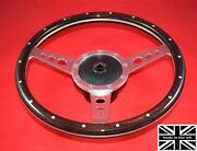 13 Riveted Wood Steering Wheel And Hub. Fits Triumph Gt6 All Years