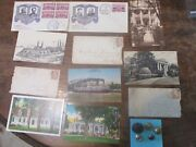 16 Pc Lot Of Civil War Related Items. Covers Postcards Buttons Some Items Old