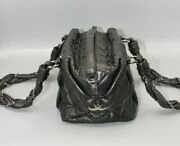 Vintage Lady Braid Bowler Small Bag Black Quilted Leather 10459853