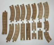 Thomas The Train Wooden Railroad Track Learning Curves Straight 18 Piece Lot