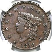 1822 N-2 R-3 Ngc Xf Details Matron Or Coronet Head Large Cent Coin 1c