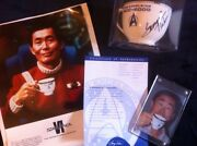 Pfaltzgraff Star Trek Vi 3 Piece Excelsior Set+ Cup Signed By George Takei Proof
