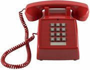 1970 Push Button Retro Corded Phone Telephone Vintage Real Working Loud Desk New
