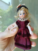 Antique Doll Cute French Mignonette Closed Mouth Blue Eyes