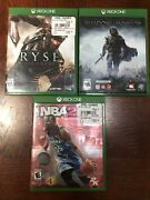 Ryse Son Of Rome, Nba2k15 And Middle Earth Shadow Of Mordor Microsoft Xbox One