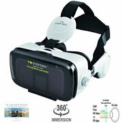 R Headset Virtual Reality Headset With 120anddeg Fov And Anti-blue-light Lenswhite