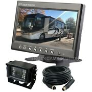7 Rear View Backup Reverse Camera System For Skid Steer,rv, Tractor, Trucks,