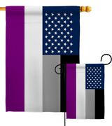 Us Asexua Garden Flag Lgbt Support Pride Small Decorative Gift Yard House Banner