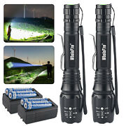 Tactical 990000lumens 5 Modes Led L2 Zoomable Police Flashlight Torch Aluminum