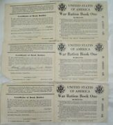 3 United States War Ration Book One Parker Dam Calif Family Of 3 + 6 Stamps