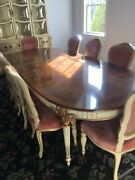 Karges French Dining Table With Walnut Burl Top