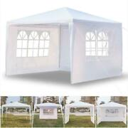 10'x10' Outdoor Canopy Tent Party Wedding Gazebo Event With Removable Side Wall