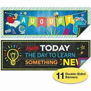 Set Of 11 Motivational Classroom Banner Poster Decorations - Extra Large And