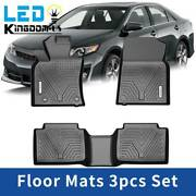 Floor Mats Liners For 2018 2019 2020 2021 Toyota Camry All Weather Black 3pc Set