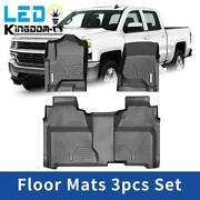 All Weather Floor Mats Liners For Chevy Silverado / Gmc Sierra 1500 Crew Cab Set