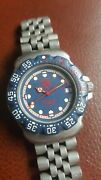 Tag Heuer Midsize Formula 1 F1 Blue Dial Wa1210 Fully Working