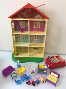 Peppa Pig Lights And039nand039 Sounds Family Home Playset 22 House Red Car And Figures Lot