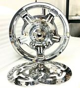 Harley Chrome Road Glide Steet Glide Front Wheel And Rotors Oem Touring .sale