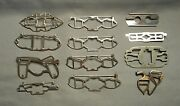 1930s-40s Lot Of 12 Frame Parts For Duette Clip Brooches - Coro Pat. 1798867 Etc