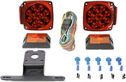 Boat Trailer Tail Submersible Led Light Kit Stop Turn Lights Clearence 12v