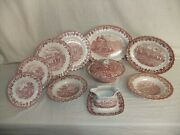 C4 Pottery Myott And Meakin - Country Life - Plates And Serving Dishes 1b4c