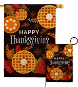 Thanksgiving Leaves Garden Flag Fall Small Decorative Gift Yard House Banner