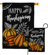 Happy Thanksgiving Garden Flag Fall Small Decorative Gift Yard House Banner