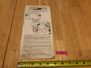 American Flyer Train Operating Instructions 720 Remote Control Switch Track Lota