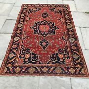 Antique Sarouk 4 X7 Late 19th Century. Mint Condition Great Color And Weaving