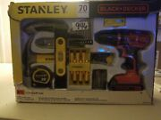 Stanley And Black+decker 66 Piece Tool Set-kit Drill-driver 20v W/ Bag