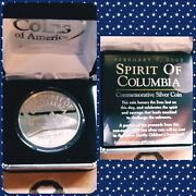 Spirit Of Columbia Nasa Space Shuttle Proof Coin 1 Troy Oz .999 Fine Silver