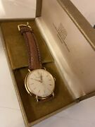 18ct Gold Case Vintage Gents International Watch Co Wristwatch Nr Mint With Box